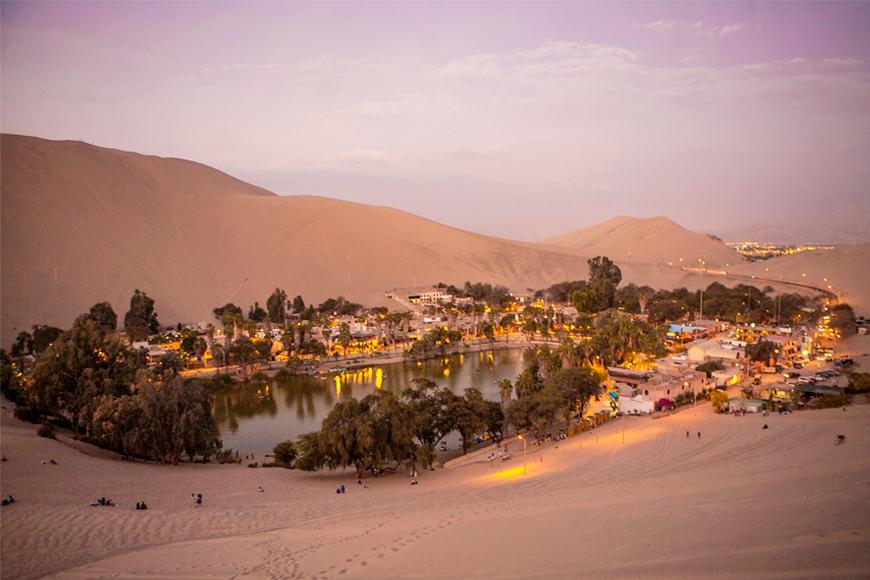 El oasis del desierto: Huacachina